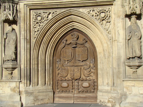 the front door of the Abbey