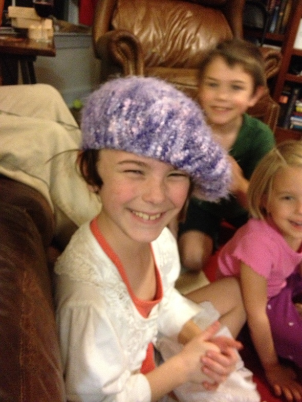 My mom made hats for all the girls.