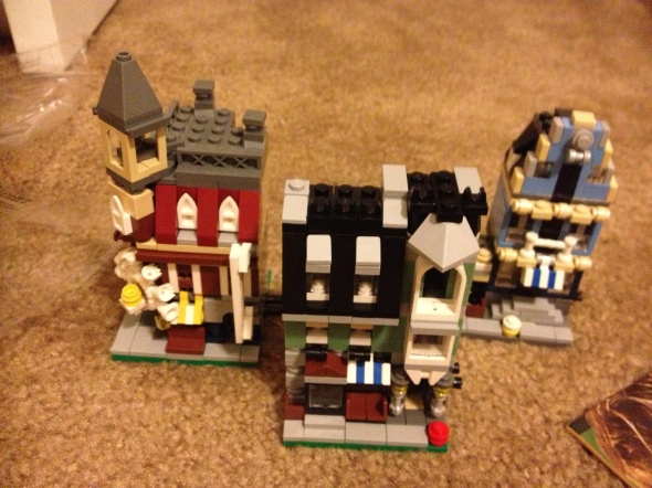 Three of the mini modulars