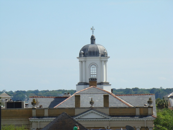 photos taken form the rooftop bar at lunchtime - this one is part of First Scots Presbyterian