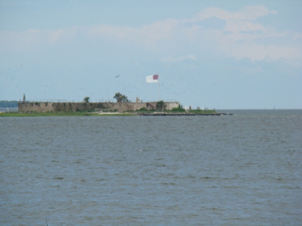 Ft. Sumter seen from Waterfront Park in downtown