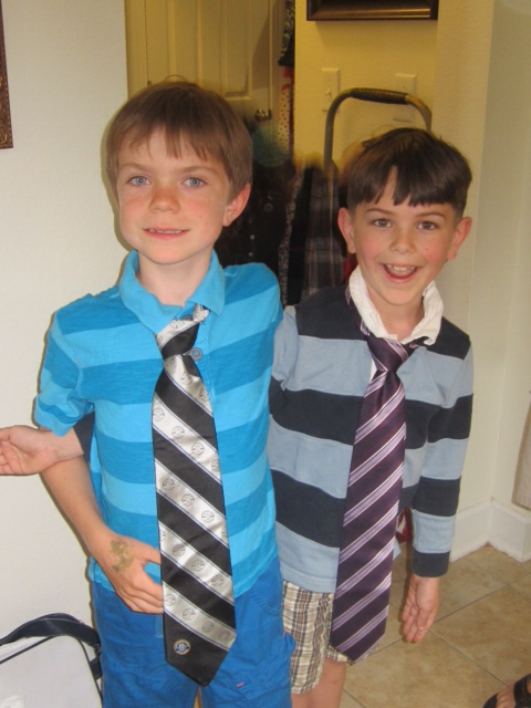 Charlie and Gabriel - don't they look swank??
