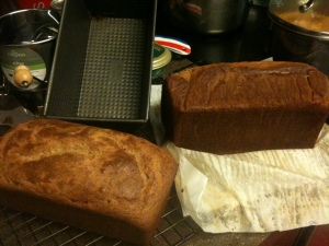 Top and side views of the Sandwich Bread from Against All Grain
